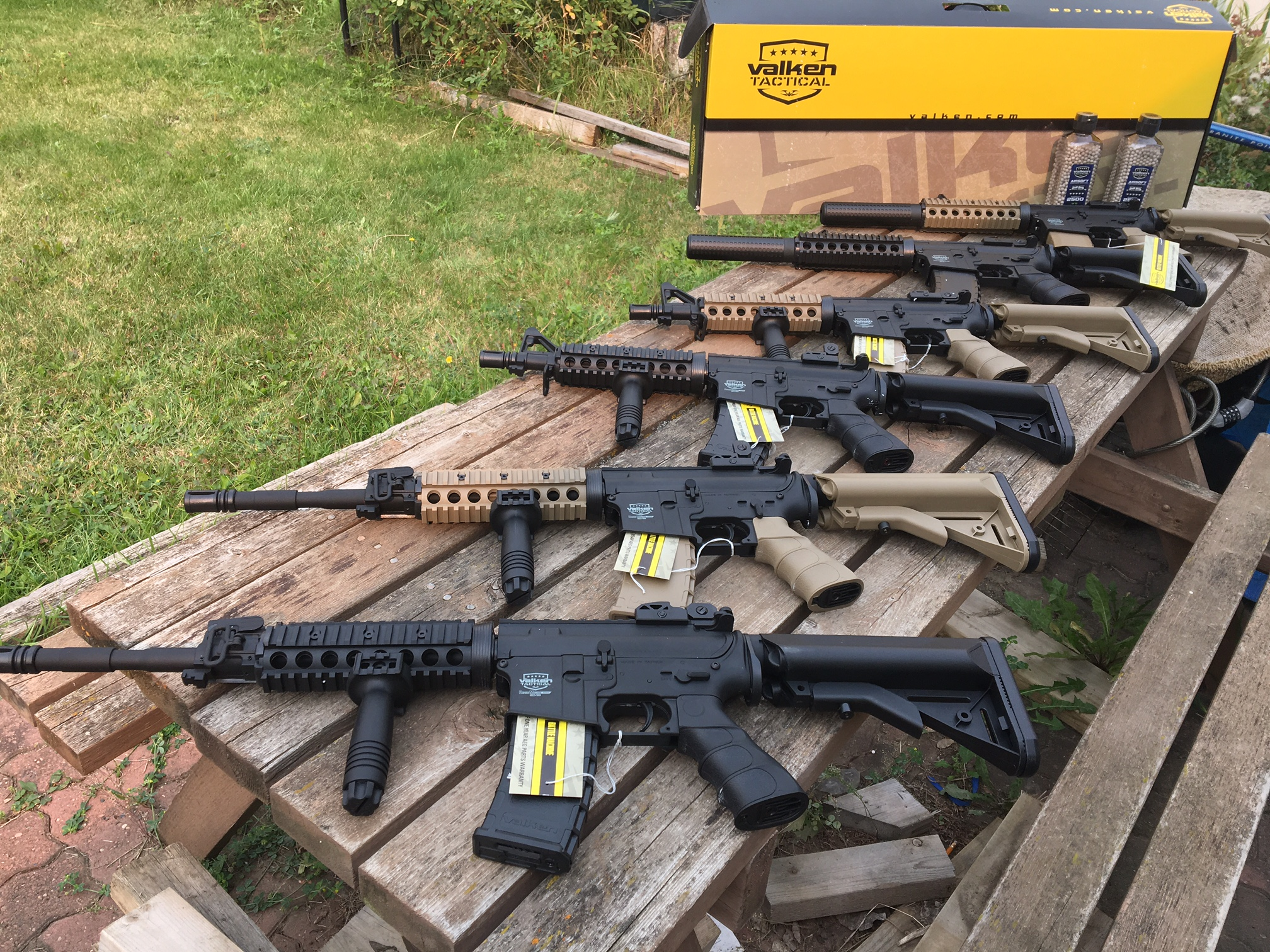 New Airsoft guns at SPG Paintball